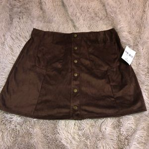 F21 Faux Suede Skirt NWT